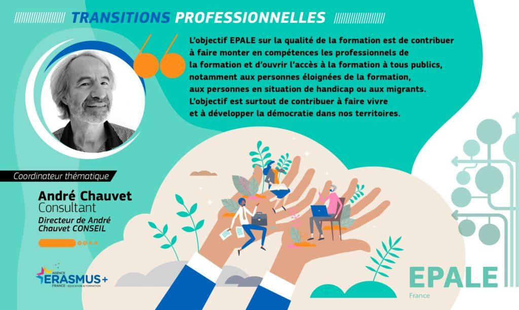 André Chauvet, consultant pour l'EPALE en transitions professionnelles